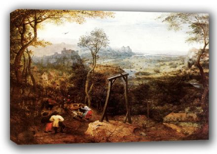 Bruegel the Elder, Pieter: The Magpie on the Gallows. Fine Art Canvas. Sizes: A3/A2/A1 (00868)